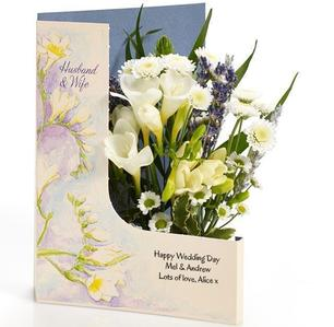 wedding day flower card