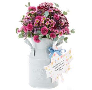 Cerise Velvet Flower Churn