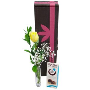 Single Yellow Rose Gift Set